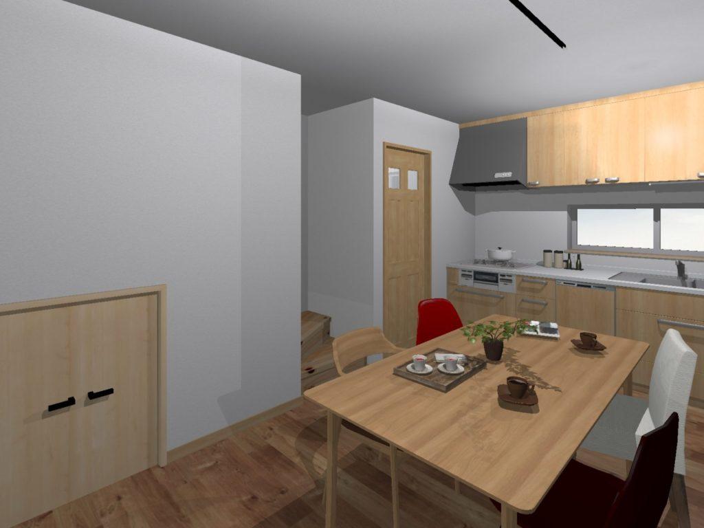 新築 イメージパース 装飾前 キッチン