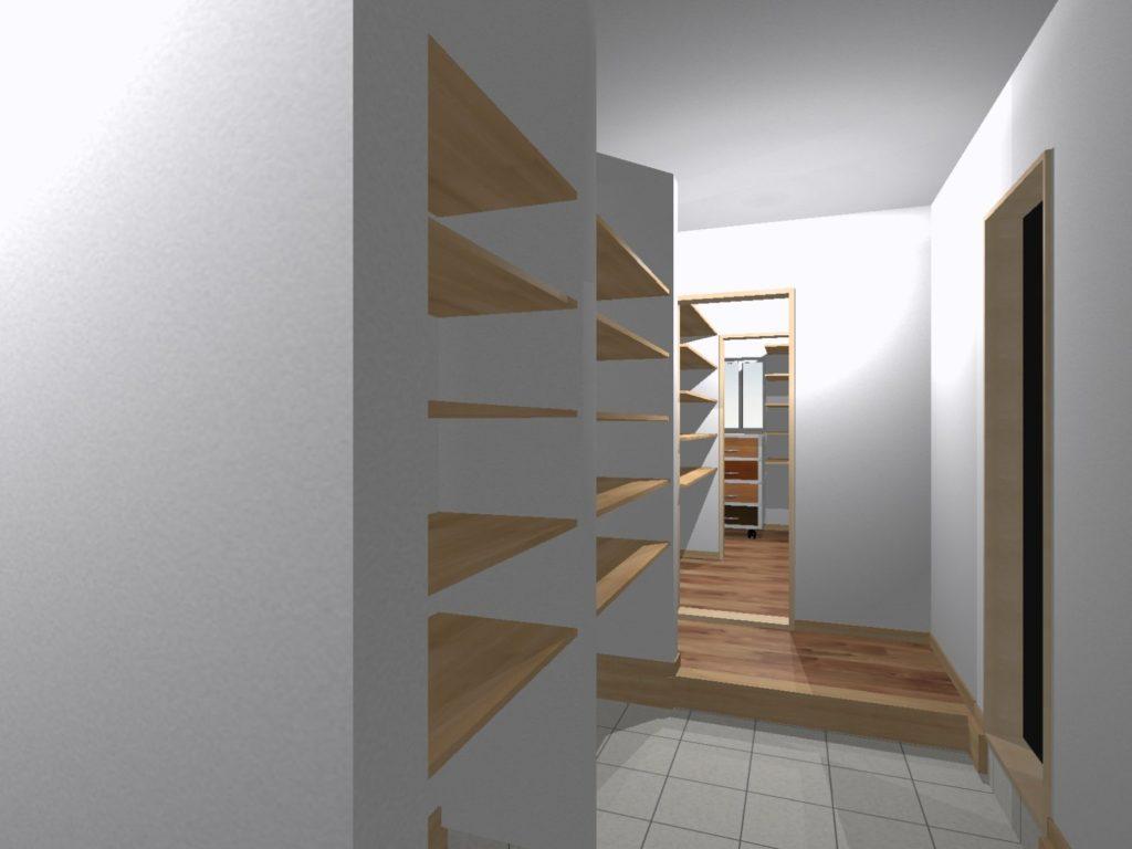 新築 イメージパース 装飾前 大容量の土間収納